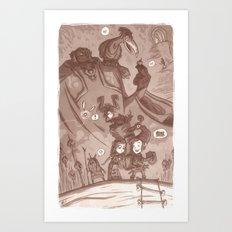 Skyward Twilight Wind Cap Time Art Print