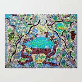 Cosmic Blue Submarine Canvas Print