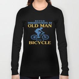 Bicycle Old Man Long Sleeve T-shirt