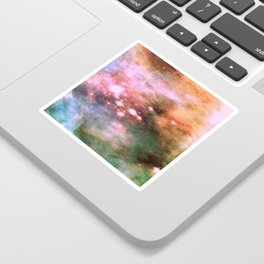 Colorful Pink Sparkle Carina Nebula Abstract Sticker