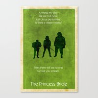 the princess bride Canvas Prints featuring The Princess Bride by Chad Trutt