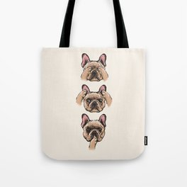 No Evil  Frenchie Tote Bag