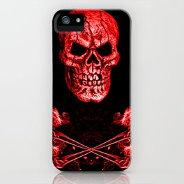 Skull And Crossbones Red iPhone Case