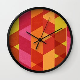 Ballet III: Orange Crush Wall Clock