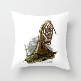 I prefer slow music Throw Pillow