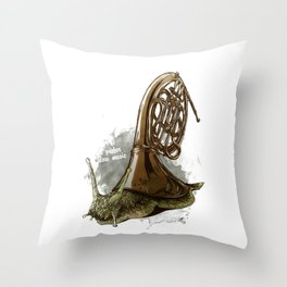 I prefer slow music Throw Pillow