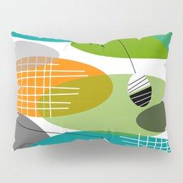 Mid-Century Modern Atomic Ovals Pillow Sham