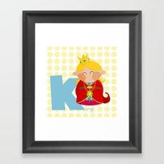 k for king Framed Art Print