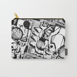 Quality Time - b&w Carry-All Pouch
