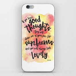 If you have good thoughts... (Red/Yellow Watercolour) iPhone Skin