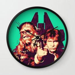 Han Solo & Chewbacca Wall Clock