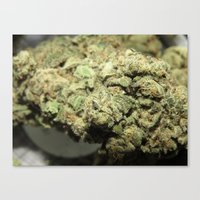 marijuana Canvas Prints featuring Marijuana by Ryan Gillings