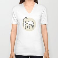 goat V-neck T-shirts featuring Goat by Emir Simsek