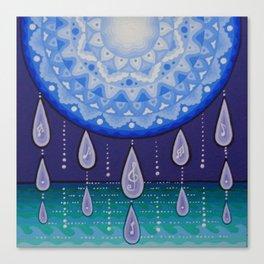 Moonlight Sonata Mandala Canvas Print