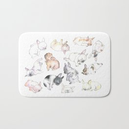 Sleepy French Bulldog Puppies Bath Mat