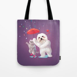 Fall in Love with Rain Tote Bag
