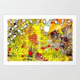 Mister Blister Art Print