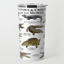 Alligators and Crocodiles of the World Travel Mug