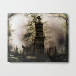 Old Cemetery Gate Metal Print