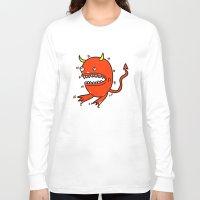 diablo Long Sleeve T-shirts featuring Huevo diablo by sitnuna