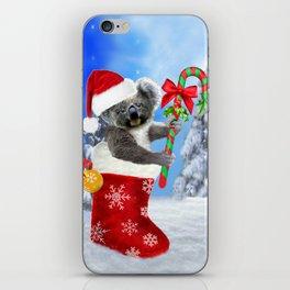 Baby Koala Christmas Cheer iPhone Skin