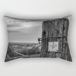 Teutoschleifen Tecklenburger Bergpfad Sign 2 bokeh bw Rectangular Pillow
