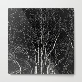 Creepy Tree Refraction Metal Print