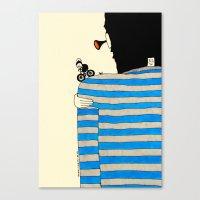 tour de france Canvas Prints featuring Tour de France by Natallia Pavaliayeva