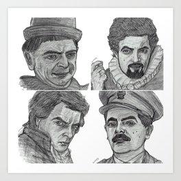 Blackadder collage Art Print