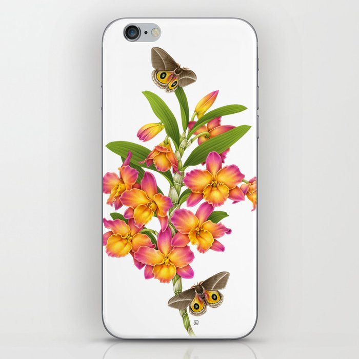 Orchid&Moths iPhone Skin