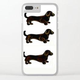 Black and Tan GO - Dachshund Trio Clear iPhone Case