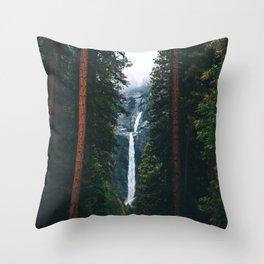 Yosemite Falls - Yosemite National Park, California Throw Pillow
