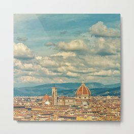 Duomo in Florence Skyline Metal Print