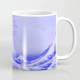 Cobalt Blue Porcelain Glaze Japanese Great Wave Coffee Mug