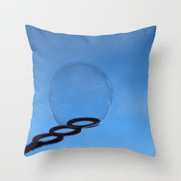 Bubble and Blue Sky Throw Pillow