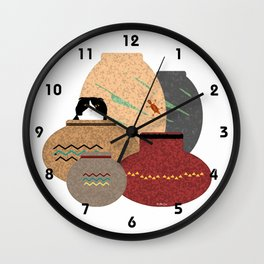Clay Pots Wall Clock