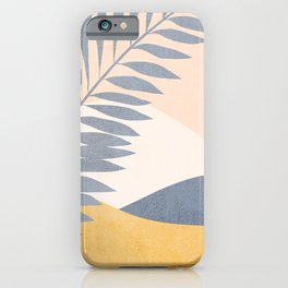 Abstract Tropical Summer Landscape - blue iPhone Case