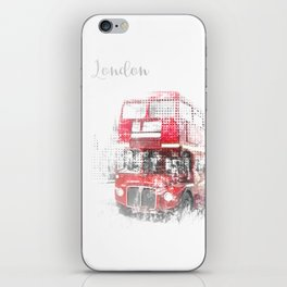 Graphic Art LONDON WESTMINSTER Street Scene iPhone Skin