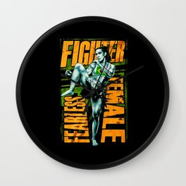 Fighter Fearless Female Wall Clock