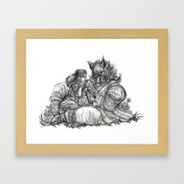 Inktober 2017: Beauty and the Beast Framed Art Print
