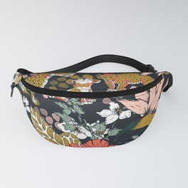 Animal print dark jungle Fanny Pack