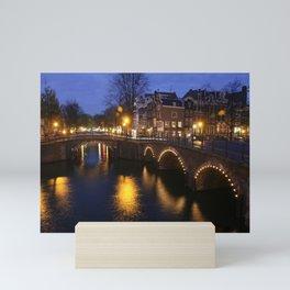 Night Bridge Mini Art Print