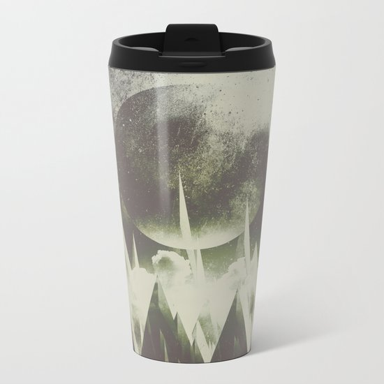 When mountains fall asleep Metal Travel Mug