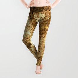 Patchwork Gold Foil Leggings