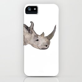 Watercolor Rhino iPhone Case