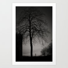 silhouette at Durham Cathedral Art Print