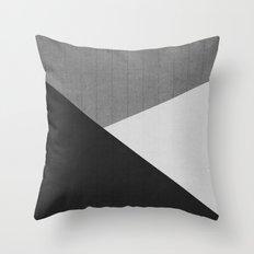 Concrete & Triangles II Throw Pillow