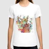archan nair T-shirts featuring Anemones Blooming by Archan Nair