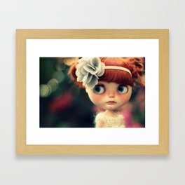Farewell party lights Framed Art Print