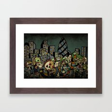 Zombies in London Framed Art Print
